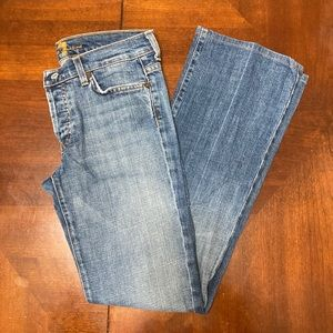7 For All Mankind -Boy Cut 4-Button Front